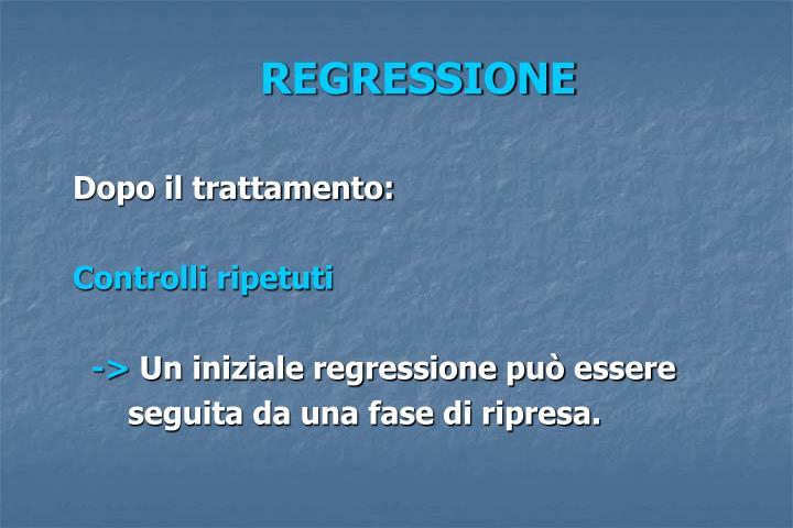 REGRESSIONE