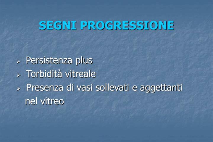 SEGNI PROGRESSIONE