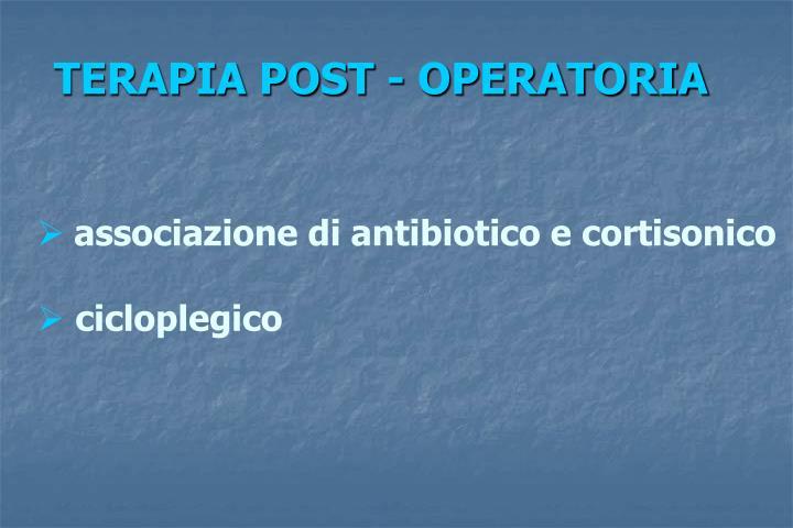 TERAPIA POST - OPERATORIA