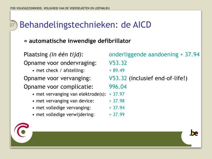 Behandelingstechnieken: de AICD