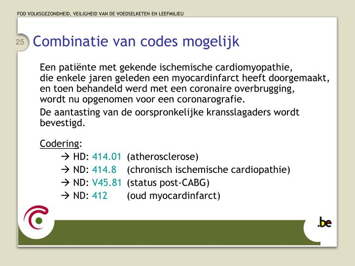 Combinatie van codes mogelijk