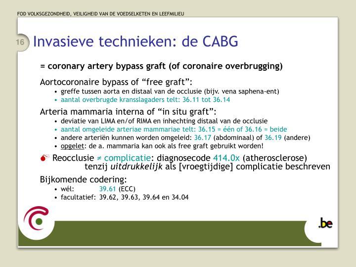 Invasieve technieken: de CABG