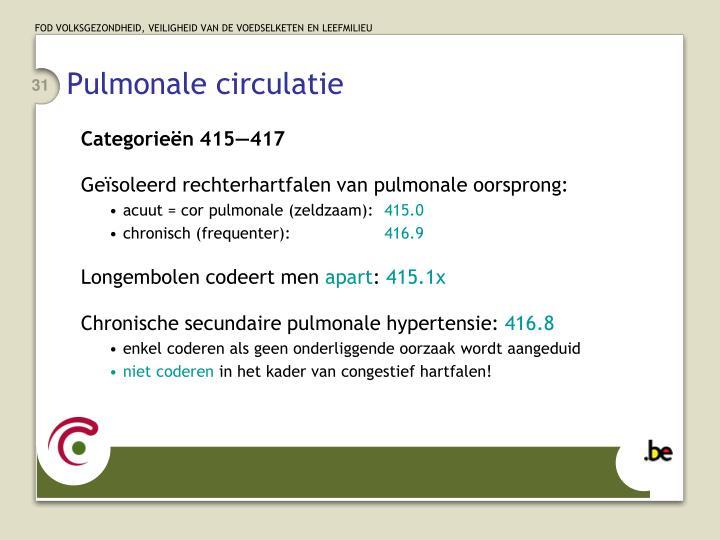 Pulmonale circulatie