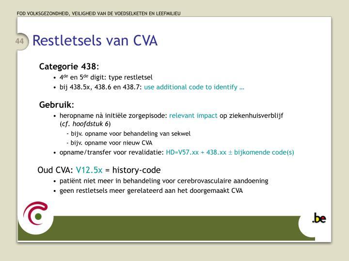 Restletsels van CVA