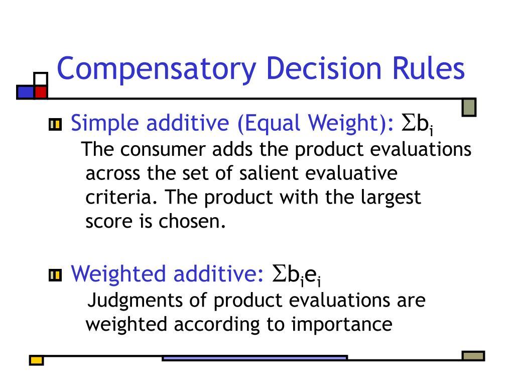 Compensatory Decision Rules