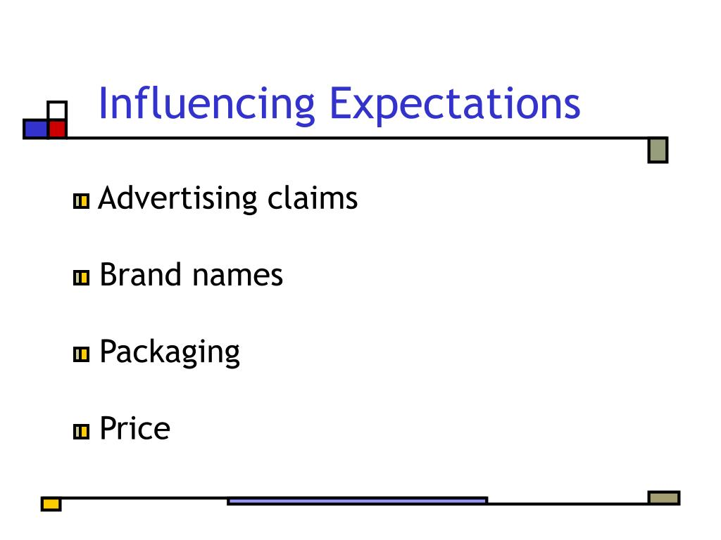 Influencing Expectations