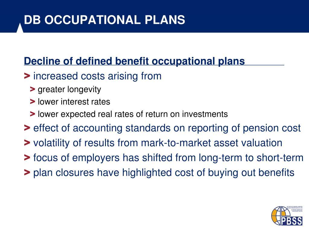 DB OCCUPATIONAL PLANS