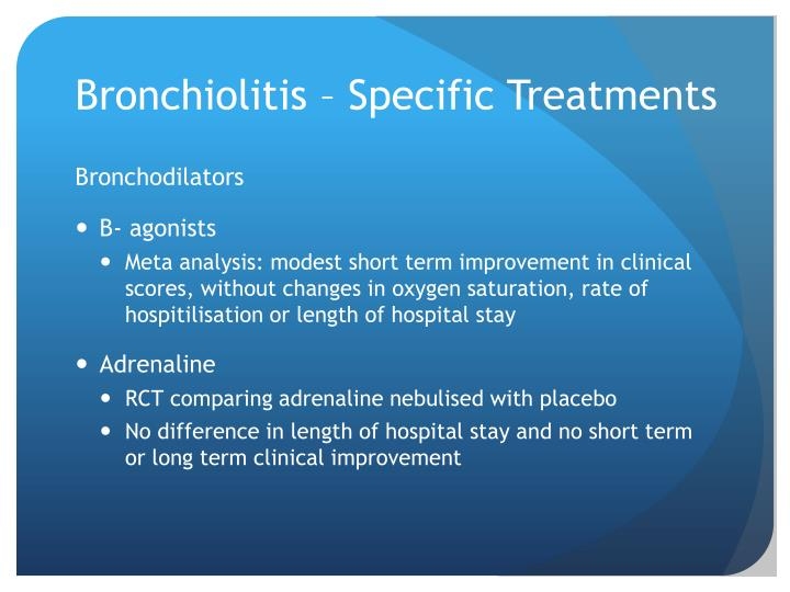 Bronchiolitis – Specific Treatments