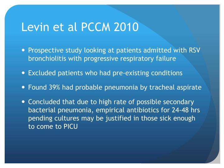 Levin et al PCCM 2010