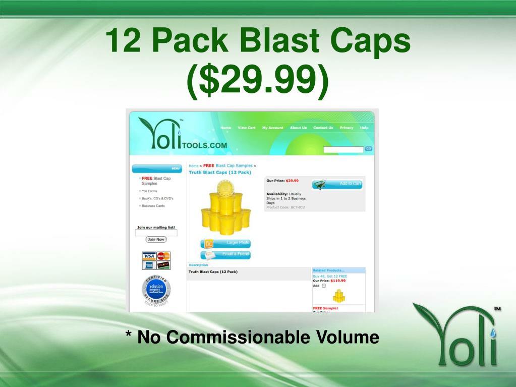 12 Pack Blast Caps