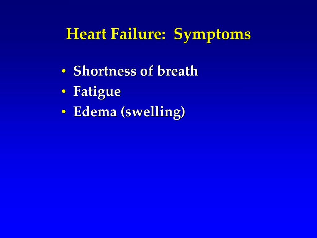 Heart Failure:  Symptoms