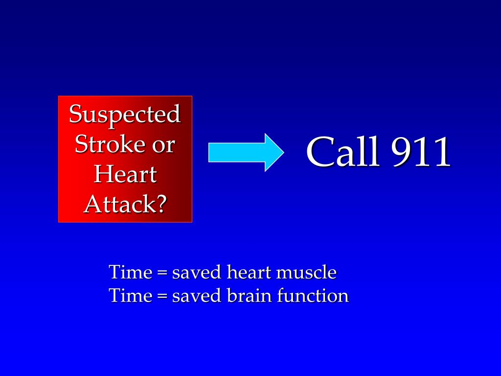 Suspected Stroke or Heart Attack?
