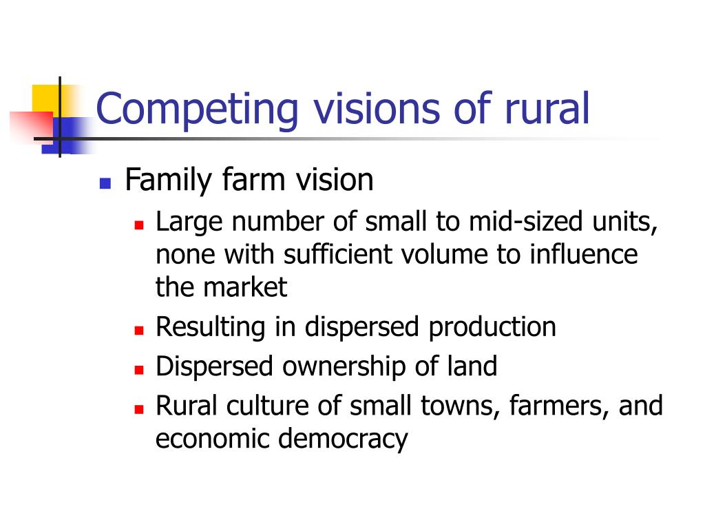 Competing visions of rural