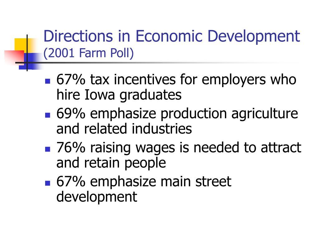 Directions in Economic Development