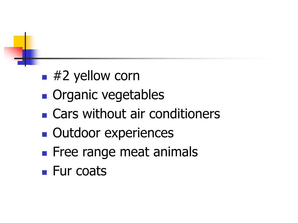 #2 yellow corn