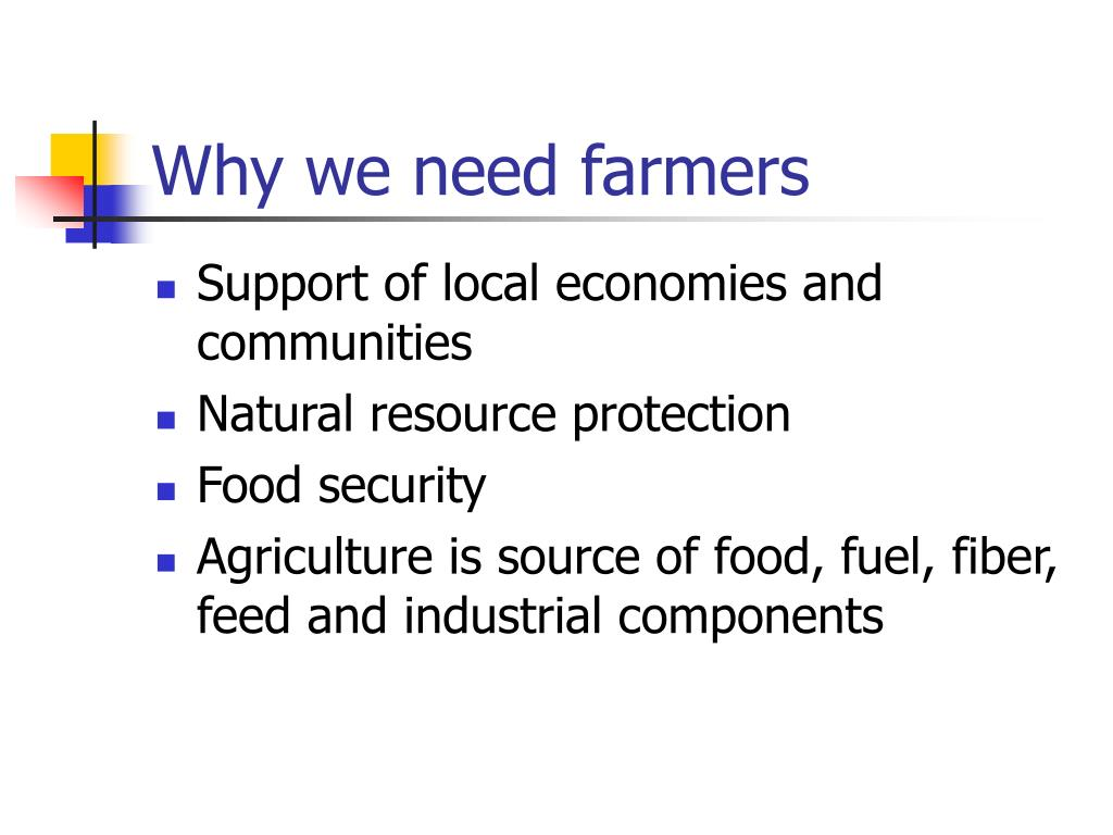 Why we need farmers
