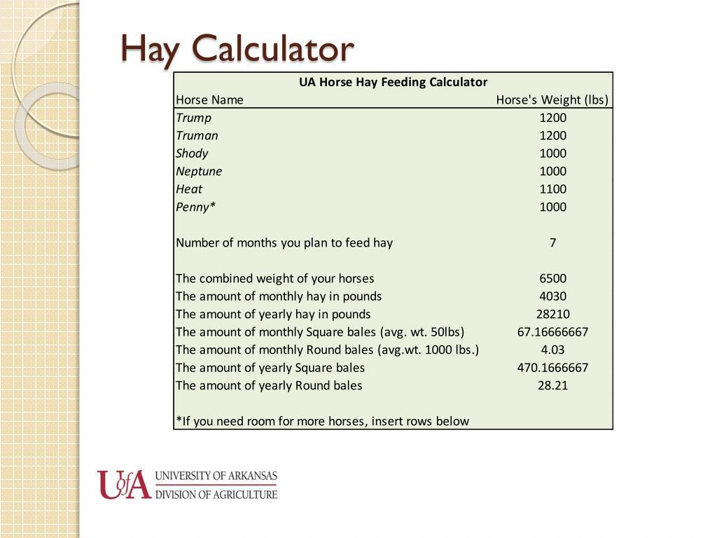 Hay Calculator