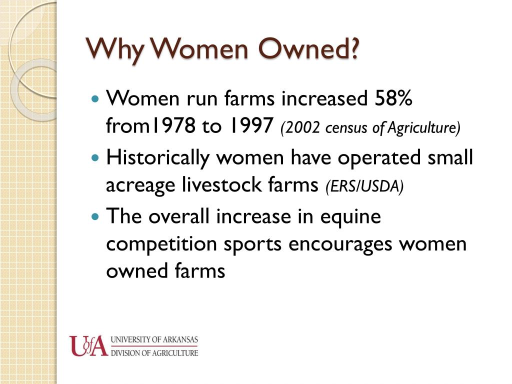 Why Women Owned?