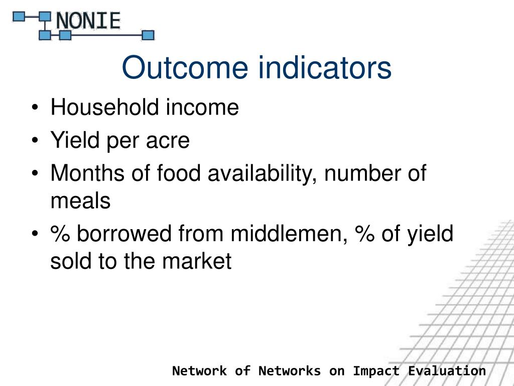 Outcome indicators