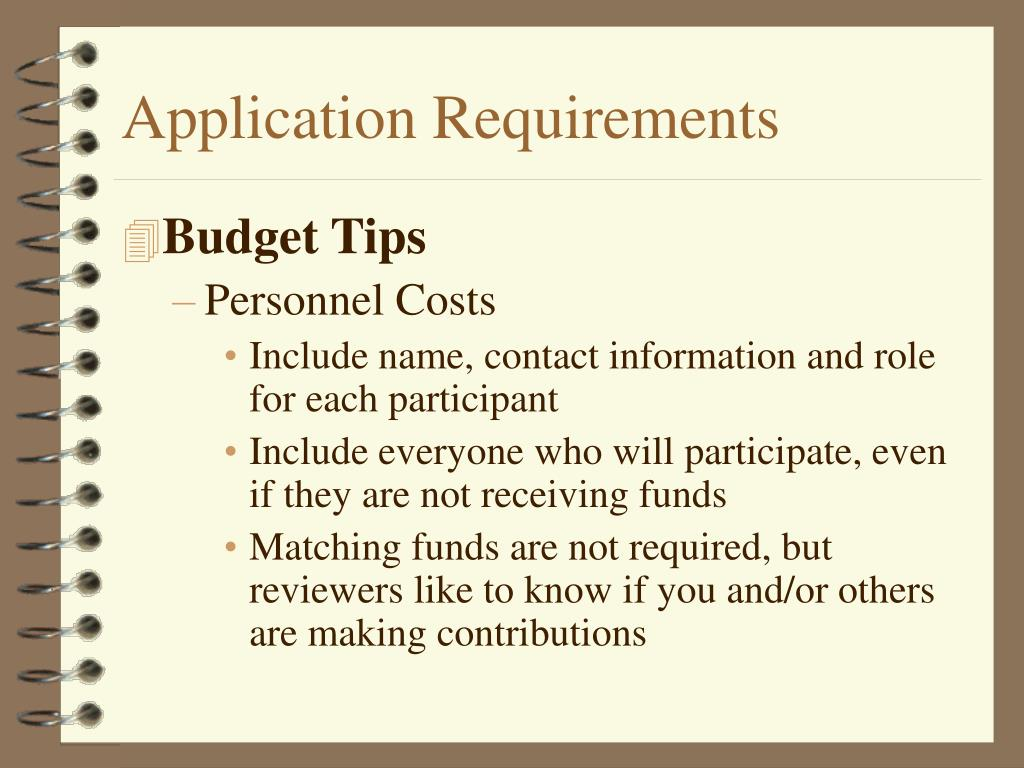 Application Requirements