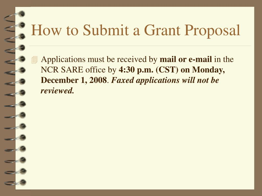 How to Submit a Grant Proposal