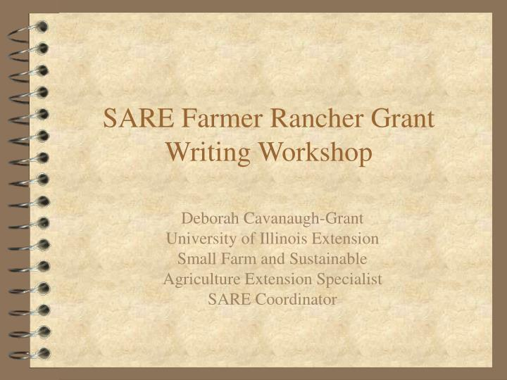 Sare farmer rancher grant writing workshop