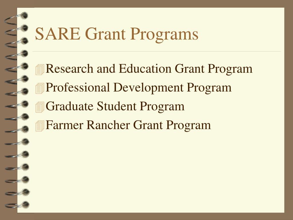SARE Grant Programs