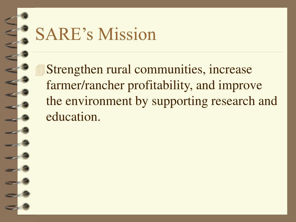 SARE's Mission