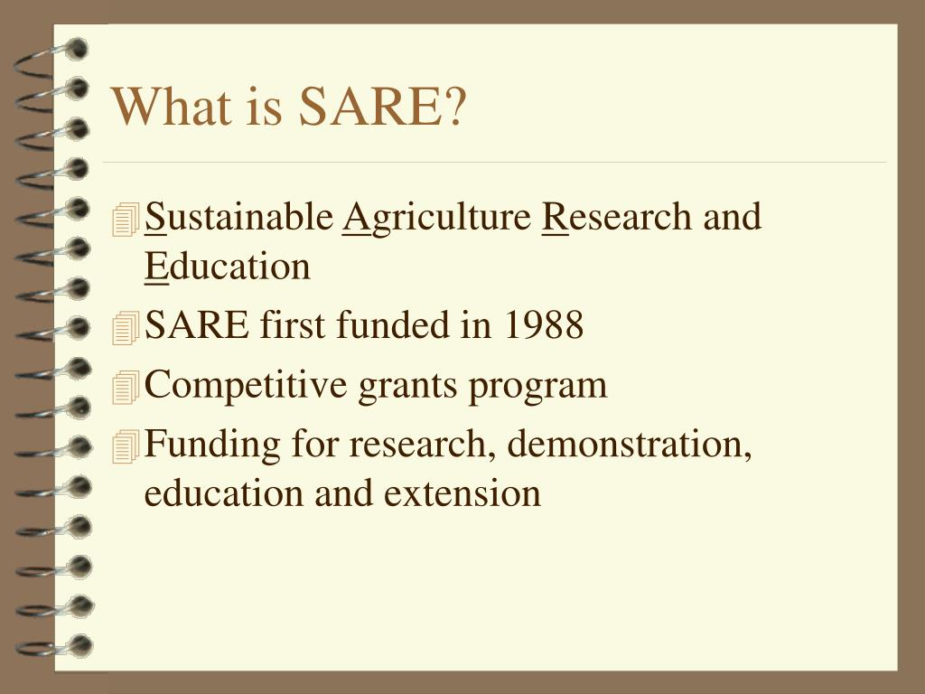What is SARE?