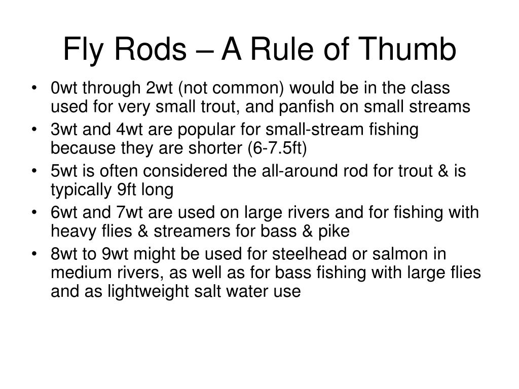 Fly Rods – A Rule of Thumb