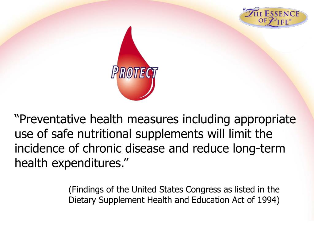 """Preventative health measures including appropriate"