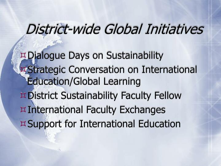 District-wide Global Initiatives