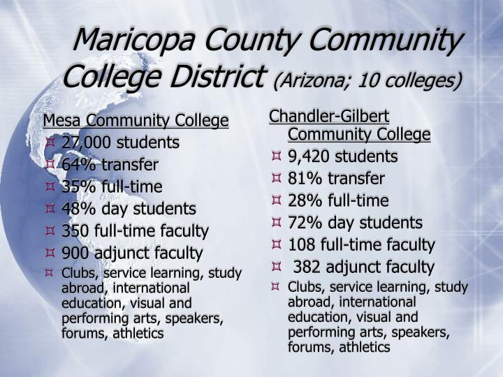 Maricopa county community college district arizona 10 colleges