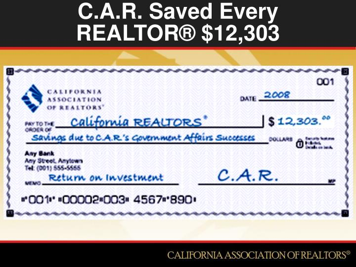 C.A.R. Saved Every