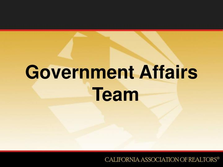 Government Affairs Team