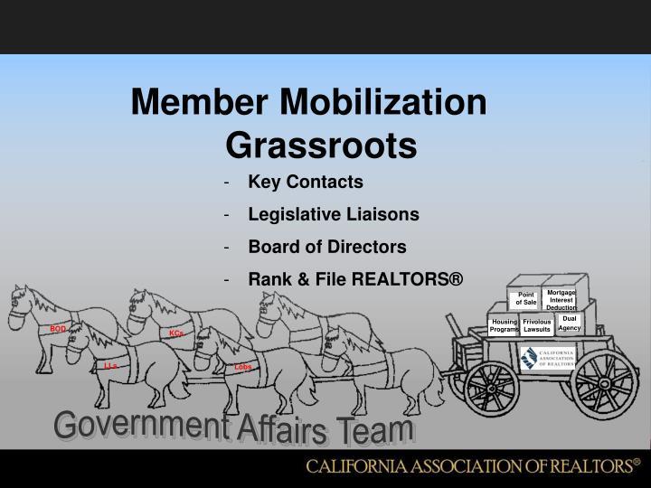 Member Mobilization Grassroots