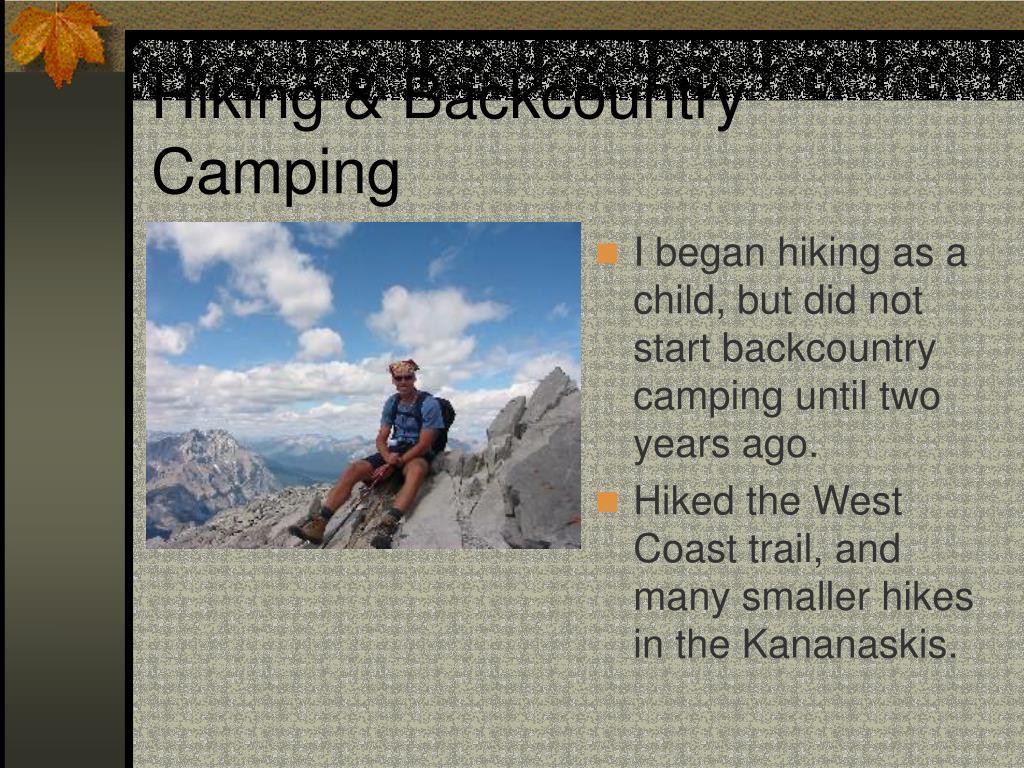 Hiking & Backcountry Camping