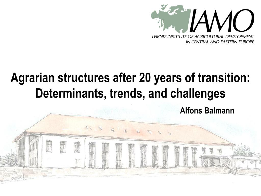 Agrarian structures after 20 years of transition: