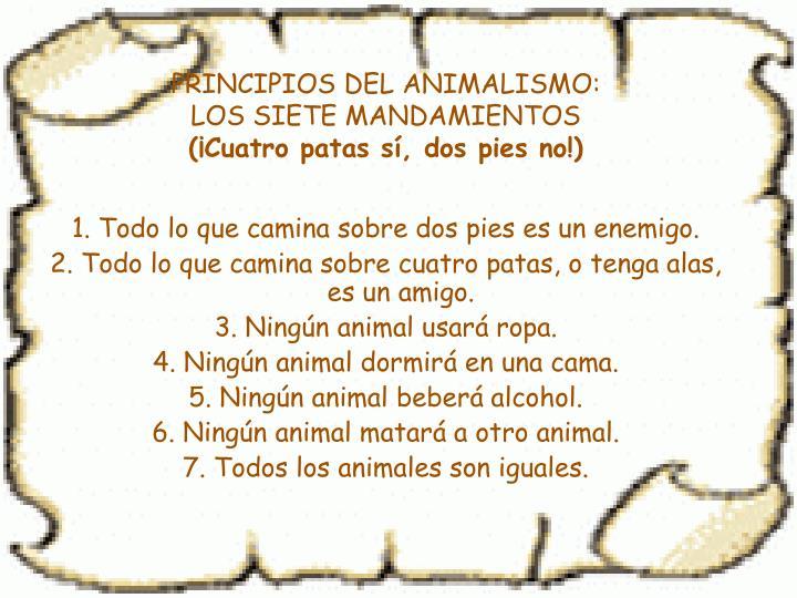 PRINCIPIOS DEL ANIMALISMO: