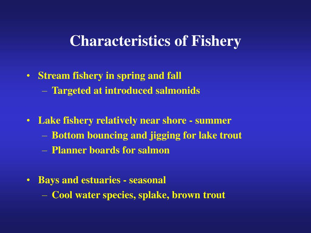 Characteristics of Fishery