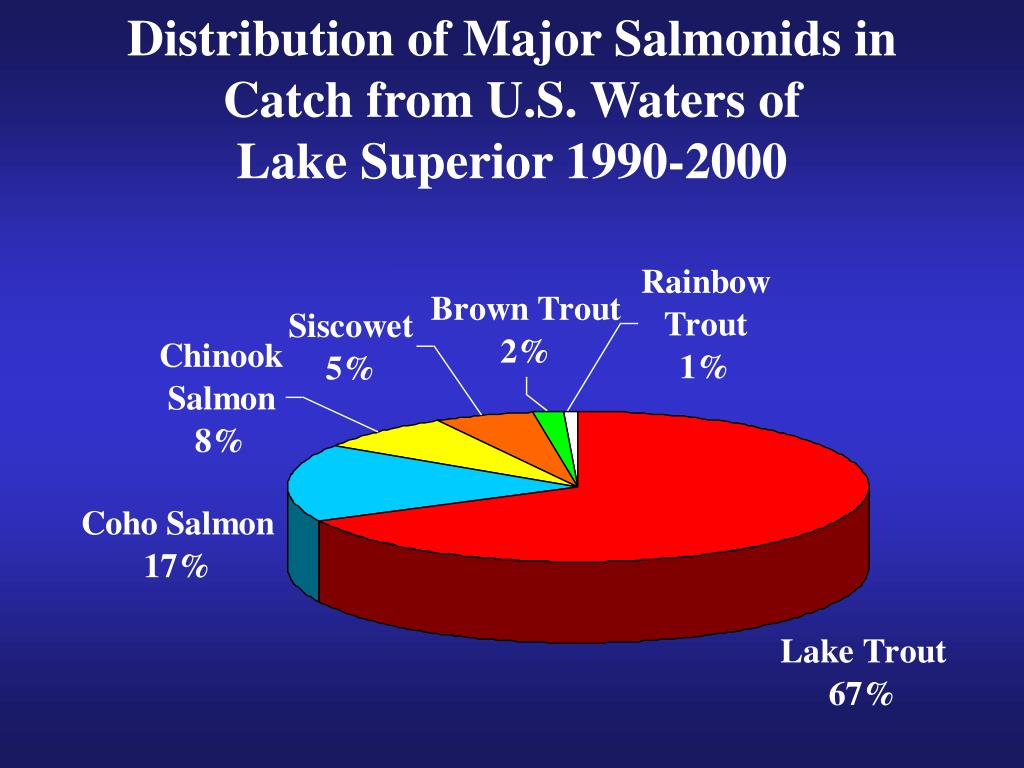 Distribution of Major Salmonids in Catch from U.S. Waters of