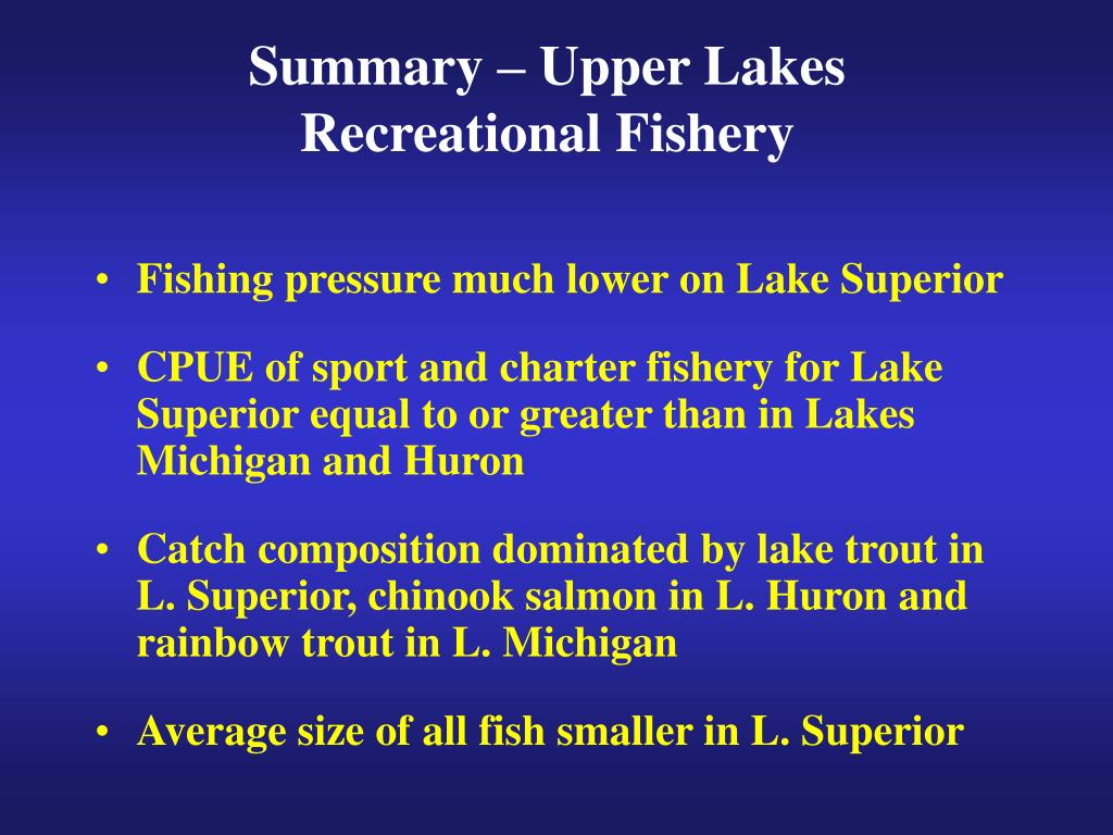 Summary – Upper Lakes