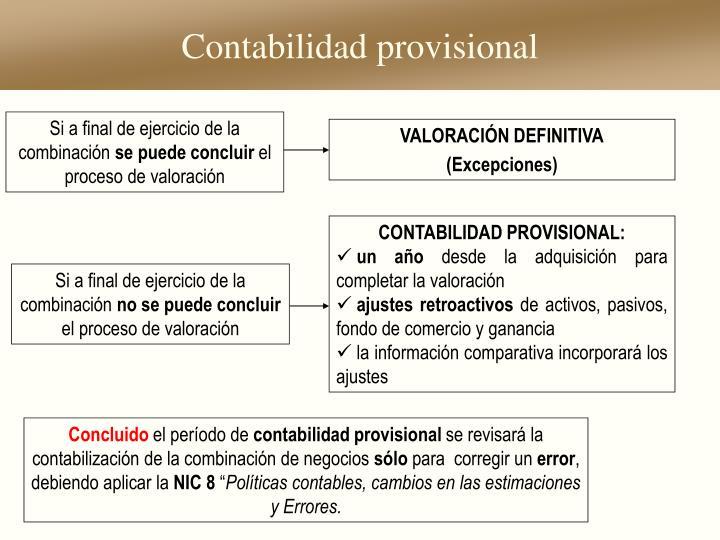 Contabilidad provisional