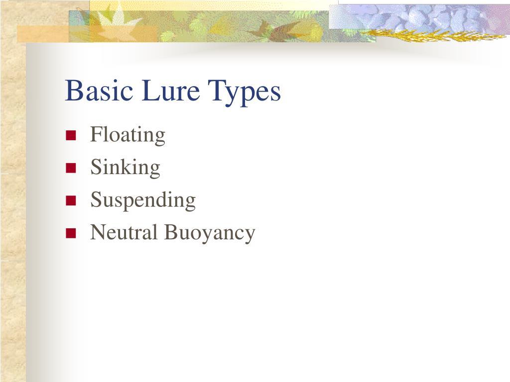 Basic Lure Types