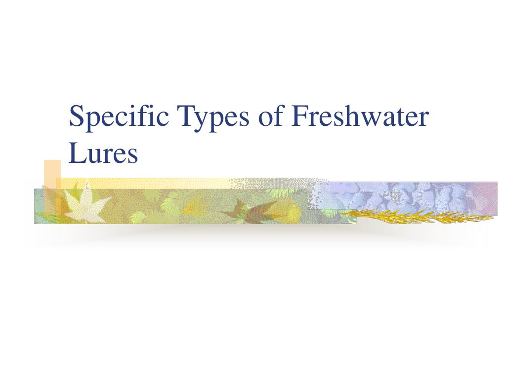Specific Types of Freshwater Lures