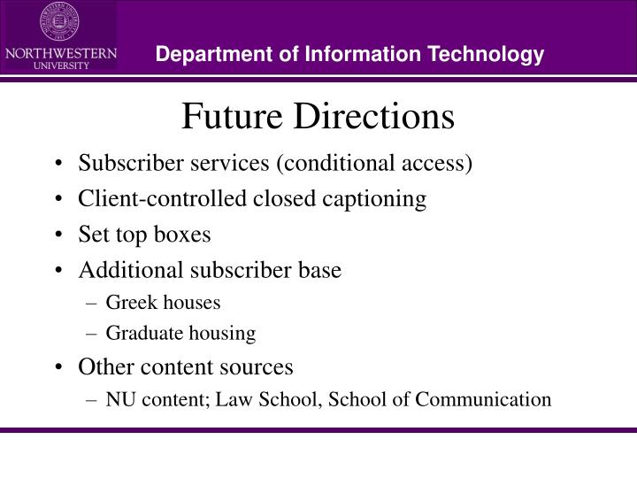 Future Directions