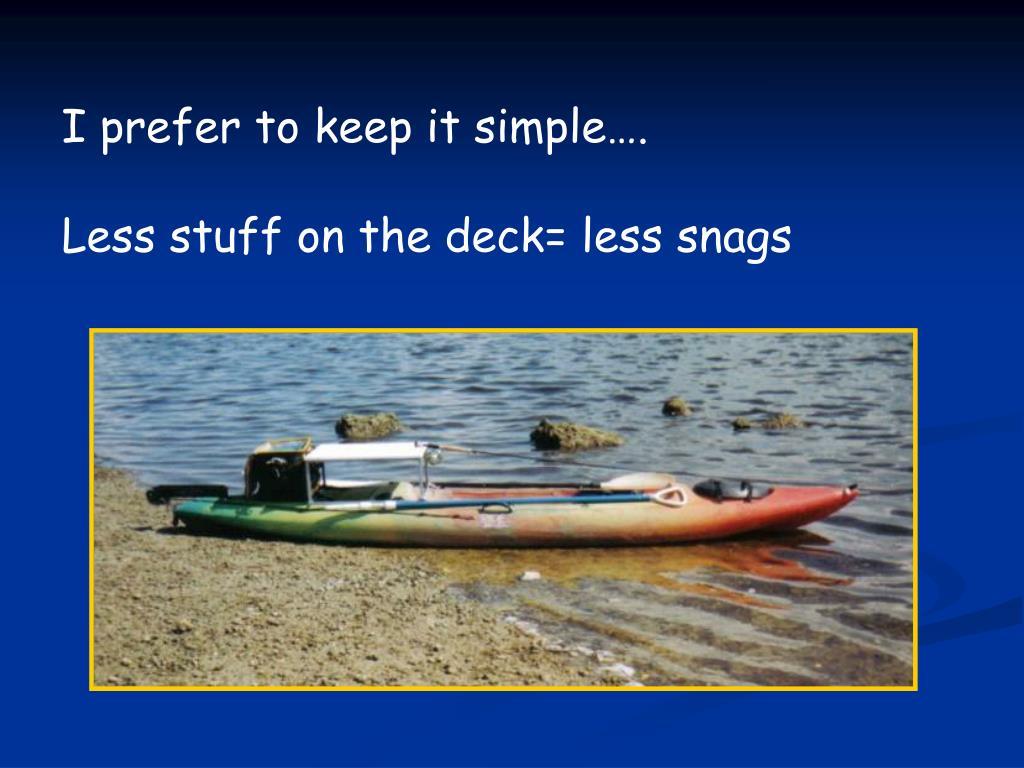 I prefer to keep it simple….