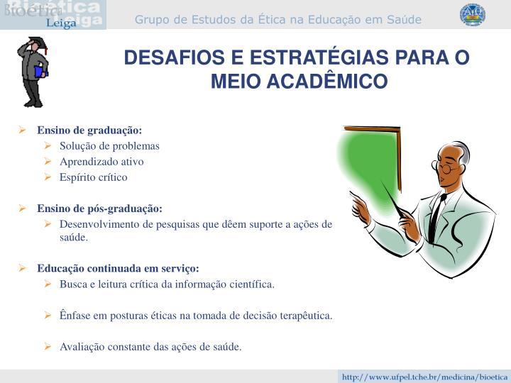 DESAFIOS E ESTRATÉGIAS PARA O