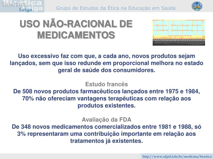 USO NÃO-RACIONAL DE MEDICAMENTOS