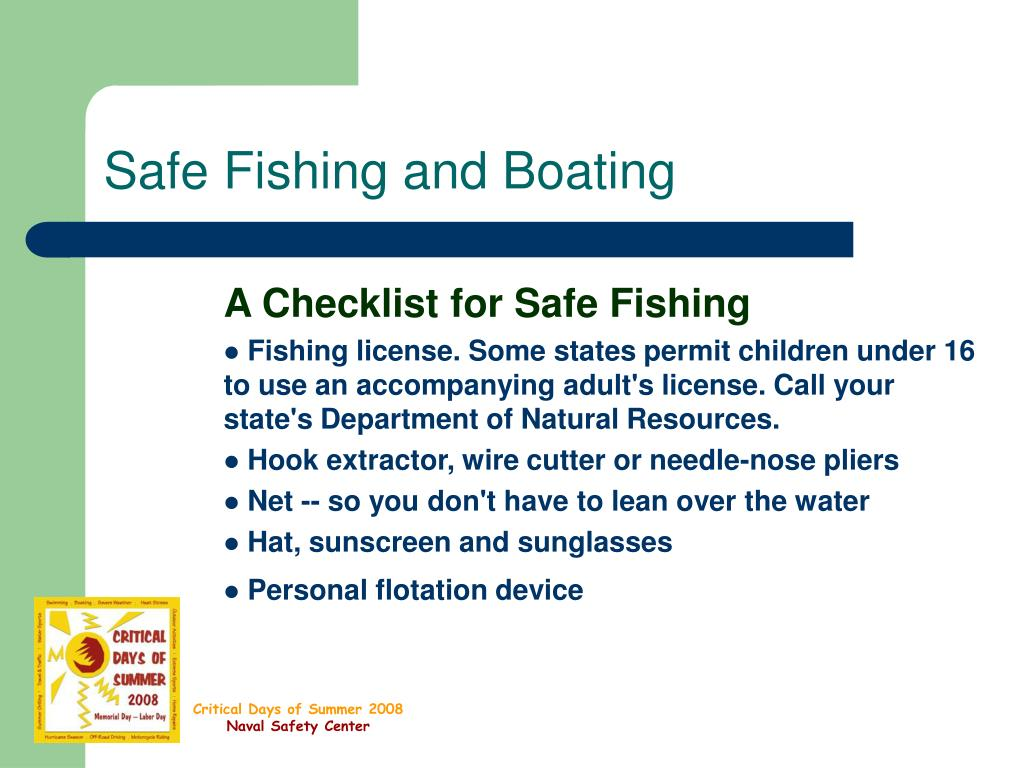 Safe Fishing and Boating